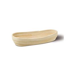 Neustanlo Gärkorb Gärkörbchen aus Peddigrohr verschiedene Größen, Oval 37 x 16 cm 1 kg beige Oval