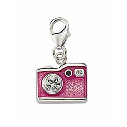 Adelia´s Charm-Einhänger 925 Silber Charms Anhänger Fotoapparat mit Zirkonia