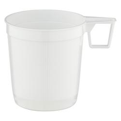 Premium Henkeltasse Kaffeetasse XXL 0,25l | 250ml weiß PS, 40 Stk.