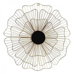 Wanddekoration Dekodonia Blume Metall Kristall Chic