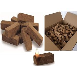 1200 Grillanzünder Holz Kaminanzünder Anzündwürfel aus Naturholz mit Wachs