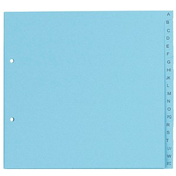 5 dots Ordnerregister   DIN A4 Halbformat, Überbreite A-Z blau 20-teilig