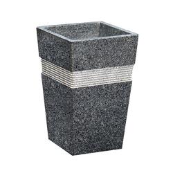 Dehner Gartenbank Susi, 49 x 30 x 30 cm, Granit, schwarz/grau