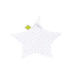 Julius Zoellner Schnuffeltuch Jersey in weiß mit Muster Herz pink