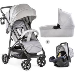 Hauck Kombi-Kinderwagen Rapid 4S Plus Trio Set Lunar/Stone, mit Babyschale; Kinderwagen