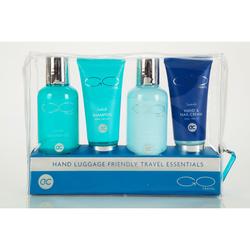 GO TRAVEL Duschgel Bodylotion Handcreme und Shampoo - Reiseset Handgepäck Pflegeset