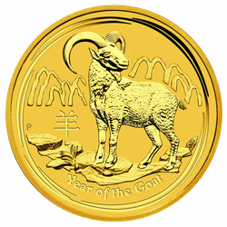 1 Unze Gold Lunar Ziege 2015