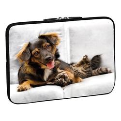 PEDEA Design Schutzhülle 13,3 Zoll (33,8 cm) Laptop Notebook Tasche Hülle, cat and dog