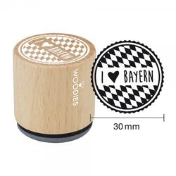 Woodies Stempel - I love Bayern W11003