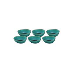 LEONARDO Schale NOLI Keramikschüssel 15 cm grün 6-ttlg., Keramik, (6-tlg)