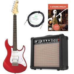 Yamaha Pacifica 012 RM E-Gitarre Set inkl. Amp + Kabel + E-Gitarrenschule Rot