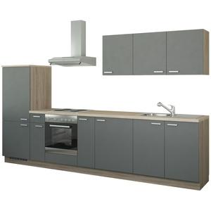 Küchenzeile mit Elektrogeräten ¦ grau » Möbel Kraft