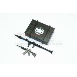 GPM-ZSP023-OC TRX-4 Defender Scalezubehör Waffenkiste + Waffe für Crawler (A) -3-teiliges Set