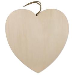 Herz aus Holz mit Aufhänger, 40 cm