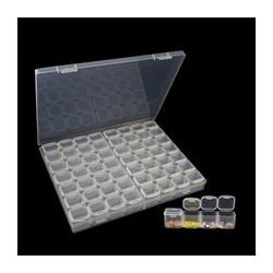 Gotui Aufbewahrungsbox, 56 Gittertransparente Aufbewahrungsbox Behälter DIY Kristall BeadCase