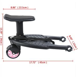 Buggyboard mit Sitz Trittbrett Kiddy Board für Kinderwagen Rollbrett Buggy Board
