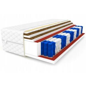 Matratze 90x200 Taschenfederkern 7 Zonen DOUBLE 2x Kokos H3 24 cm Bett Matratzen