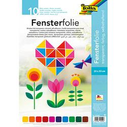 folia Fensterfolie farbig 10 Blatt