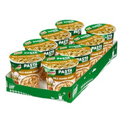 Knorr Snack Becher Nudeln in Pilz Rahm Sauce 70 g, 8er Pack
