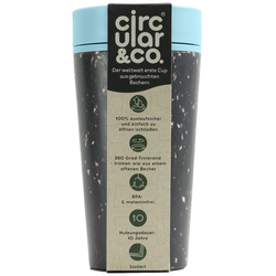 Circular and Co Mehrwegbecher 2Go Kaffeebecher 340 ml, Polyurethane, (1-tlg), Recycled Kaffeebecher schwarz
