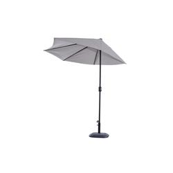 Outsunny Sonnenschirm Sonnenschirm mit Handkurbel grau