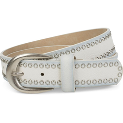 styleBREAKER Nietengürtel Gürtel mit Lochnieten Gürtel mit Lochnieten weiß 105cm
