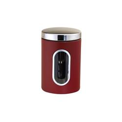 Michelino Aufbewahrungsdose Aufbewahrungsdose Edelstahl 1 Liter rot