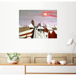 Posterlounge Wandbild, Die Eisenbahn 80 cm x 60 cm