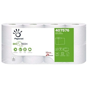 Papernet 407576 Camping Toilettenpapier 2 lagig, Camping Klopapier, Toilettenpapier für chemietoilette Boot wohnmobil Größe 64 Rollen