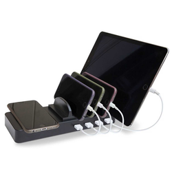 Soundlogic Wireless QI Charger mit 4 USB Ladestationen
