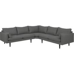 Ecksofa Sulli dunkelgrau Polstersofa Polstergarnitur Couch Garnitur Eckcouch
