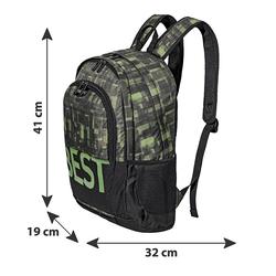 BESTLIFE Rucksack TASKU schwarz/grün mit Laptopfach bis 15,6 Zoll