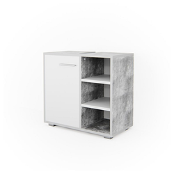 Vicco Waschbeckenunterschrank Waschtischunterschrank Perry Unterschrank Waschbecken Waschtisch Weiß / Beton