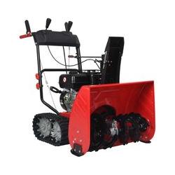 Zweistufige Schneefräse Rot Schwarz Kunststoff 196 cm³ 6,5 PS - Youthup