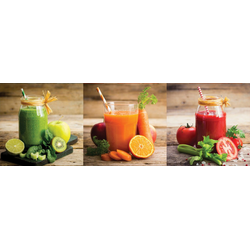 Colourful smoothies Set Glas bunt GB-KUS1047 (BH 98x33 cm)