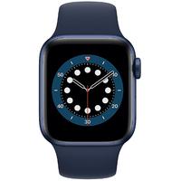 Apple Watch Series 6 GPS + Cellular 40 mm Aluminiumgehäuse blau, Sportarmband dunkelmarine
