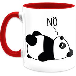 Shirtracer Tasse Nö - Panda - schwarz - Statement Tasse - Tasse zweifarbig, Keramik