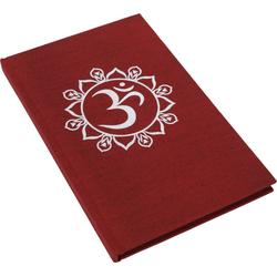 Guru-Shop Tagebuch Notizbuch, Tagebuch - OM rot