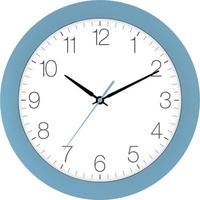 EUROTIME 88800-08-2 Quarz Wanduhr 30cm x 4.5cm Hellblau Schleichendes Uhrwerk (lautlos)