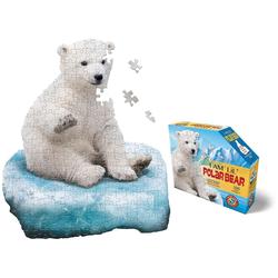Konturenpuzzle Junior Eisbär, 100 Puzzleteile