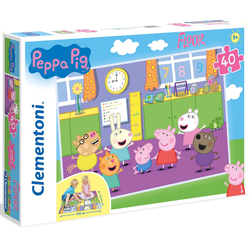 Clementoni® Puzzle Bodenpuzzle - Peppa Pig, 40 Puzzleteile, Made in Europe