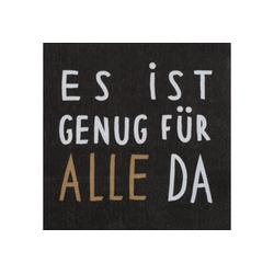 """Räder Design Papierserviette Serviette """"Es ist genug für alle da"""""""