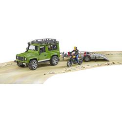 Bruder Land Rover Defender mit Anhänger und Ducati Scrambler