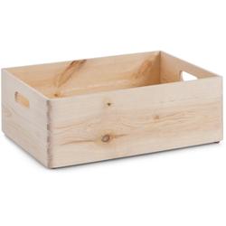 Zeller Present Holzkiste, aus Nadelholz 40 cm x 15 cm x 30 cm