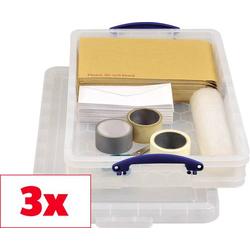 Really Useful Box Aufbewahrungsbox 20C Transparent 20l (B x H x T) 710 x 140 x 440mm 3St.