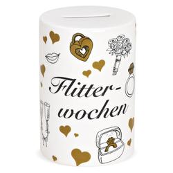 matches21 HOME & HOBBY Spardose Spardose rund Hochzeit Hochzeitsgeschenk Geldgeschenk Sparbüchse