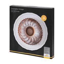 Birkmann Tortenplatte Vintage Weiß 33 cm, Keramik