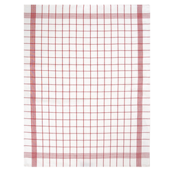 Dyckhoff Geschirrtuch Halbleinen 'Karo' 60 x 80 cm Rot