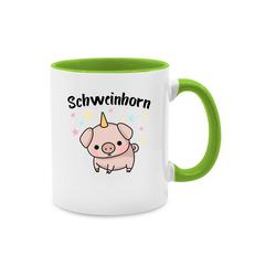 Shirtracer Tasse Schweinhorn - Statement Tasse - Tasse zweifarbig - Tassen, schwein tasse