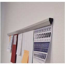 Papierklemmschiene »PKS88« 88 cm grau, Franken, 0.4 cm